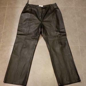Genuine leather pants
